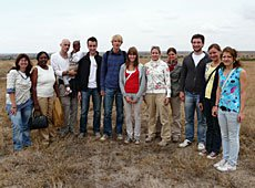 members of our fundraising group on the newly purchased plot of land